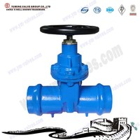 Manual Double socketted type Resilient Seat GGG50 4 inch water Gate Valve with prices