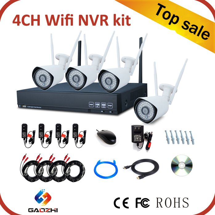 wholesale 4ch infrared cctv security camera system wireless wifi nvr kit outdoor