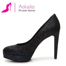 lady shoe supplier twill high heels platform pumps of China National Standard