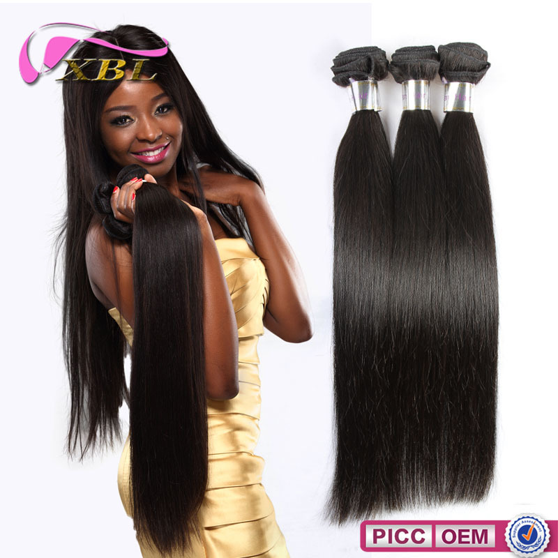 XBL hair 100% virgin Malaysian hair weft , 100 human hair extensions