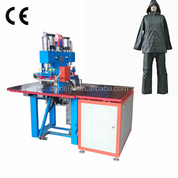 Plastic PVC Raincoats Making Production Equipment/5 KW HF Welding Device With CE