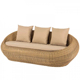 On sales Outdoor rattan sofa specific use wicker outdoor furniture 0402