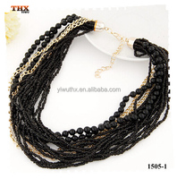 2015 Fashion Chain Mix Plastic Beaded Necklace