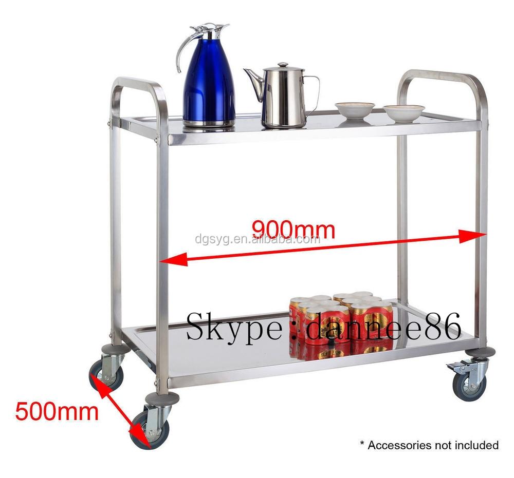 Brand New Utility Trolley 3 Shelf Stainless Steel Kitchen Restaurant ...