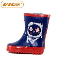 dog chicken printed rubber rain boots for kids