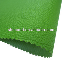 Fresh Green Lichee Emboss PVC Leather For Bag Leather