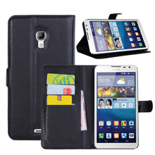 Litchi PU Card Holder Wallet Flip Leather Case For Huawei Ascend Mate 2 4G
