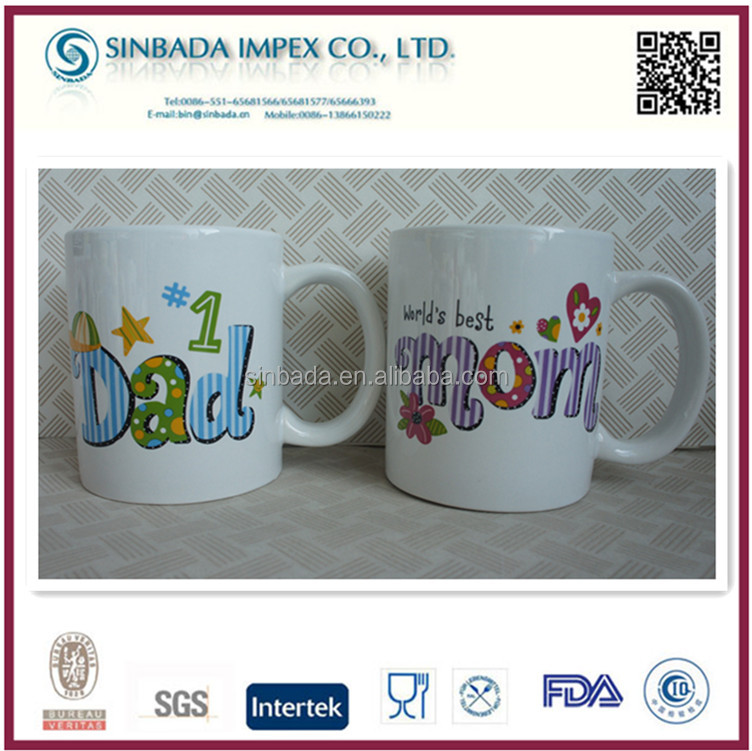 fasion high quality drinking type 11oz ceramic coffee mugs as mothers day wholesale gifts