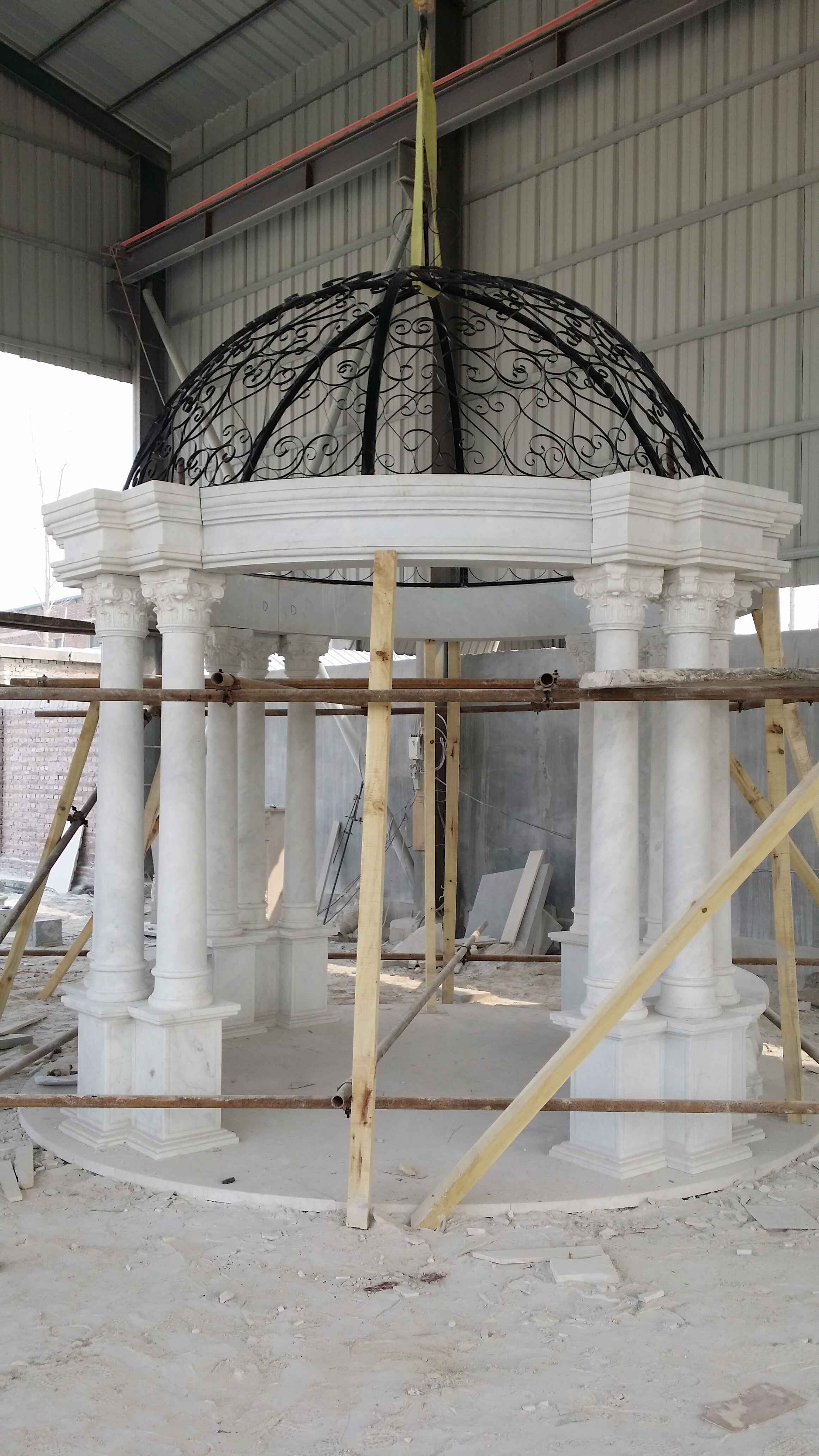 European style garden park marble Roman pillar wedding used stone gazebo for sale NTWP-030Y