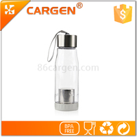 Function clear infuser strainer plastic crystal water bottle