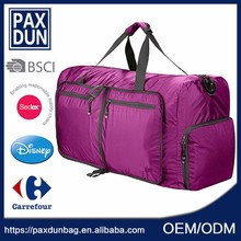 China Personalize purple Sport travel Bag for lady
