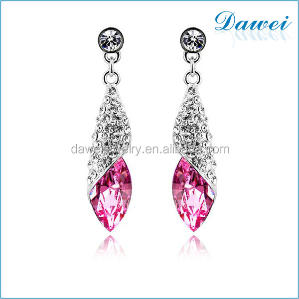 Diamond Dangler Earrings Women Alloy Crystal Earrings