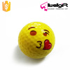 Kissing yellow Emoji Face mini emoticon practice golf ball