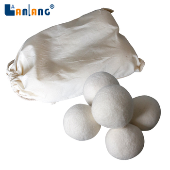 100% pure new zealand natural white dryer balls wool