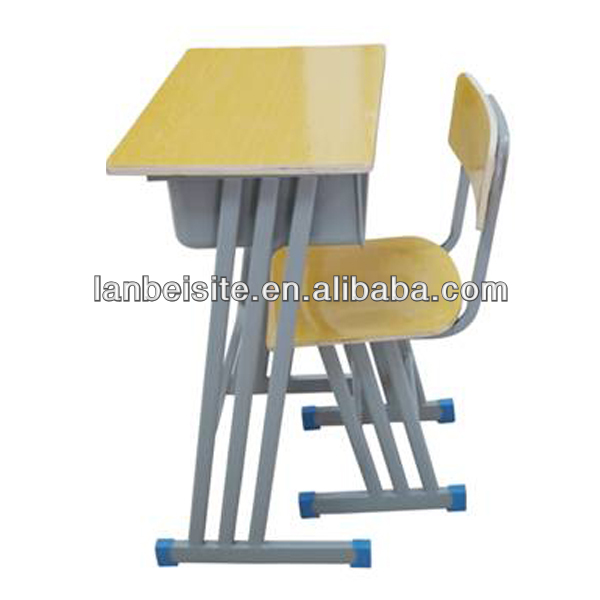 adjustable single student desk and chair for classroom teaching
