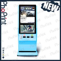 "42"" LCD touch screen instant print photo printer kiosk manufacturers advertising equipment china"