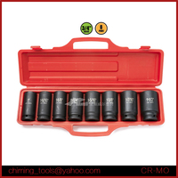 "Red Blow Case 8PC 3/4""DR. Deep Impact Socket Wrench Set/6PT Chrome Vanadium Steel Automotive Socket Set"