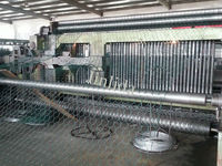 Double Twist 80 x 100mm Mesh Size Gabion Machine For 4.0mm Iron Wire