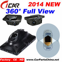 Factory Price Orginal FHD 1080P 360 angle View 4 Cams Night Vision video registrator for car