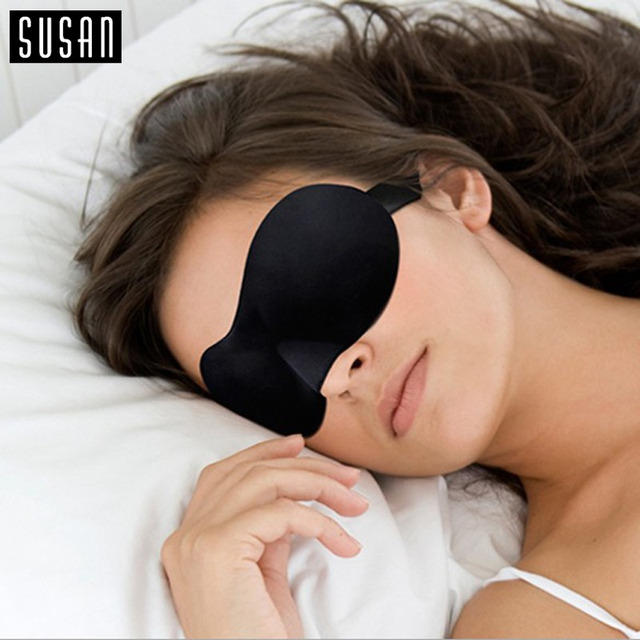 1 PC NEW Sleeping Eye Mask Blindfold Shade Travel Sleep Aid Cover 3D Portable Patches 9 Colors