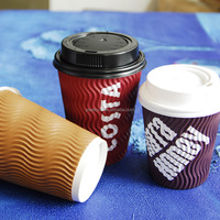 6.5 oz air ripple cup ripple paper coffee cups custom printed paper coffee cups