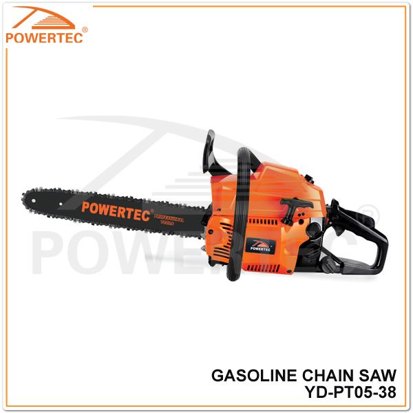 POWERTEC 38cc 1200w chain saw machine,gasoline chain saw 3800