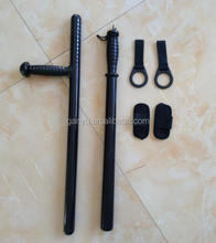 rubber police tonfa anti riot baton with holster