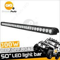 2017 50inch 300w black single row offroad led light bar in auto lighting system