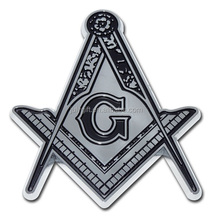 Metal Masonic car emblems sticker