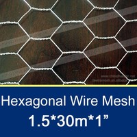 1m*50m Hexagonal Wire Netting / Metal Chicken Mesh Roll