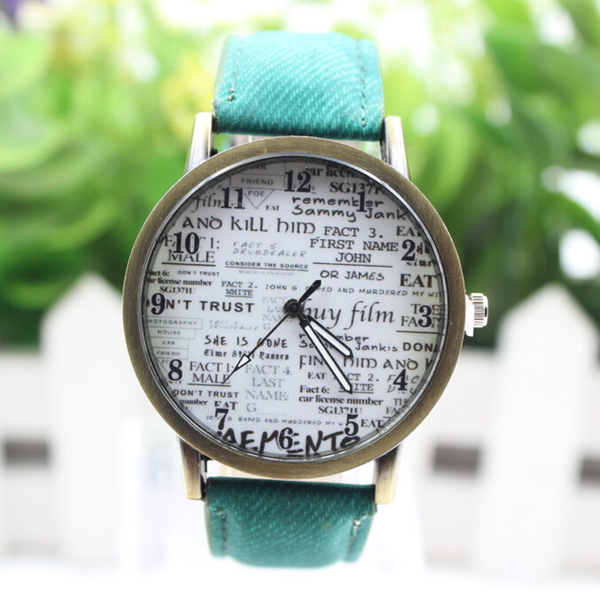 Factory Direct Sales Newspaper Design Custom Wrist Watches