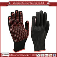 Seeway Palm PVC Dots Gloves red palm knit work gloves
