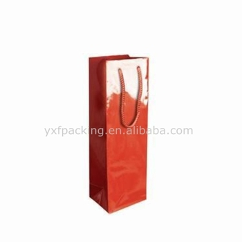 Gloss bottle wine paper gift bags