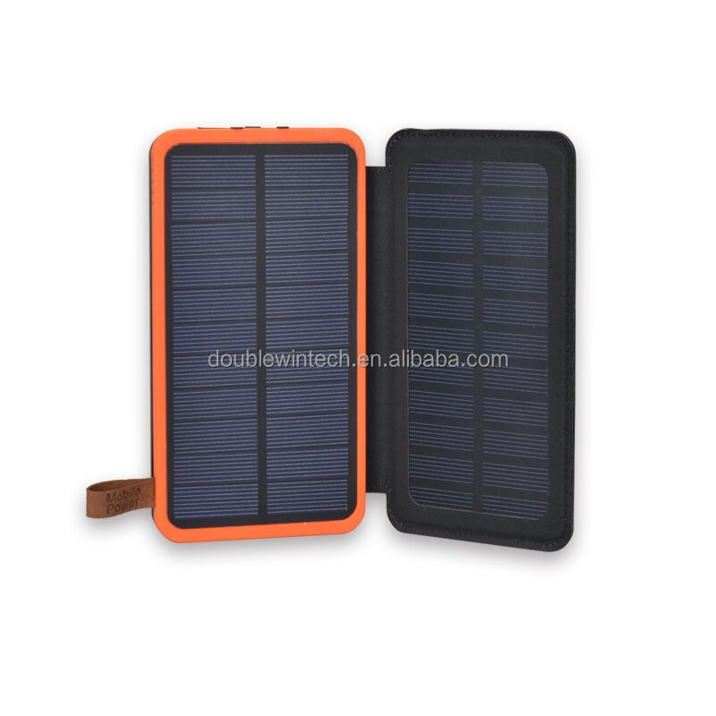 New Model Cheapest Waterproof Portable Real Big Capacity High Efficient 16000mAh Solar Charger Power Bank With Multi- USB Port