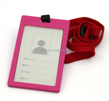 Custom Staff Credit Business Card Holder With Lanyard , 0707058