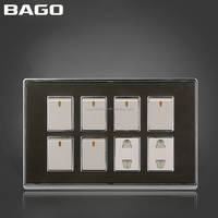 Pakistan style 16A 6+2 electrical wall switch and socket