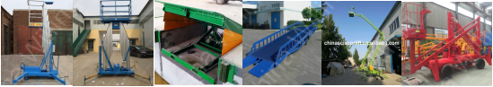 hydraulic warehouse cargo lift outdoor industry guide rail cargo elevator