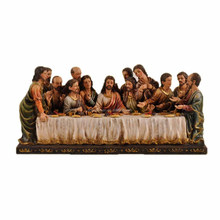 Table statue last supper made of resin traditional colors