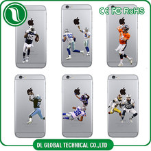 Colorful PC for custom printed iphone case American football team mobile phone case cover for iphone 6s print case