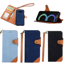 New Cowboy Pattern Leather Protective Wallet Pouch Case for samsung galaxy s8