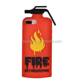 fire extinguisher Silicone case cover for iPhone 7, Fashion case for iPhone 7 Plus