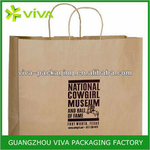Palm red LOGO decorate brown paper bag