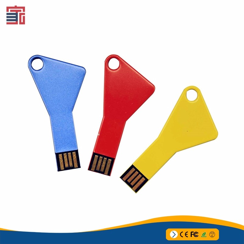 Promotional flat key shape usb flash drive 4GB customized usb flashdrive
