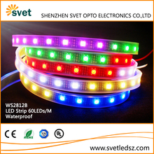 60LEDs/m 5M WS2812B LED Pixel Strip Tube Waterpoof RGB IP67 5050 DC 5V White PCB