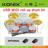 USB Midi Portable Roll Up Electronic Drum Kit W758 Digital Drum set Kit With Pad