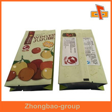 Printing Plastic Gusset Food Grade Bags Pouch For Jujube And Date Palm