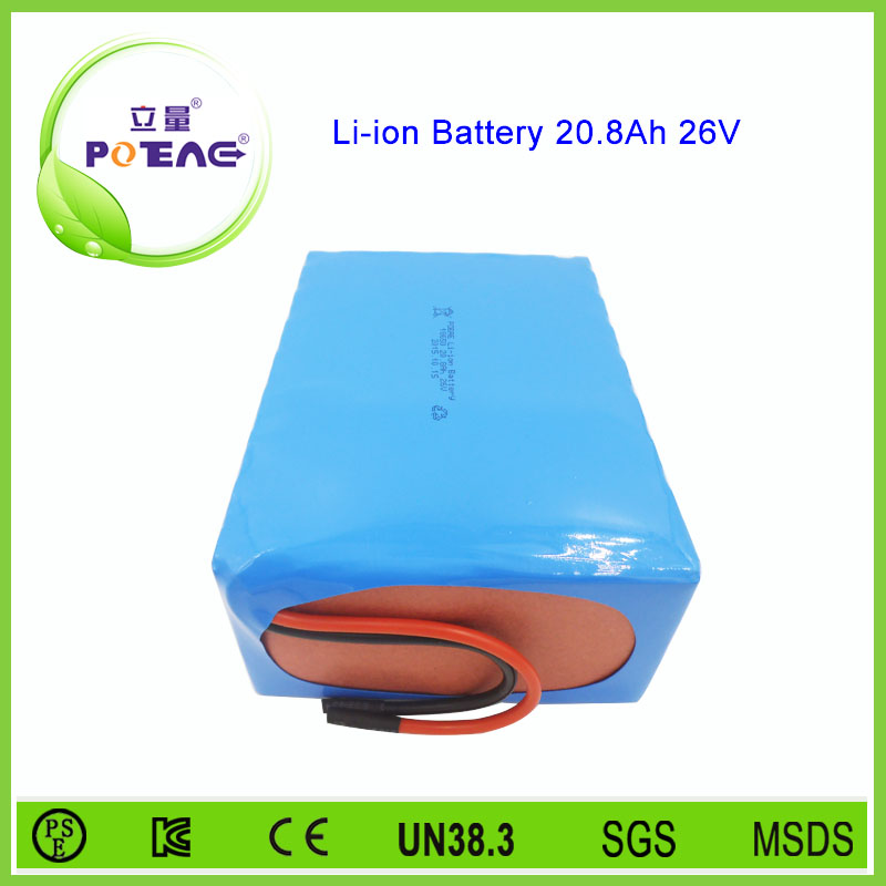 25.9v 20.8ah rechargeable 18650 battery pack for electric vehicle