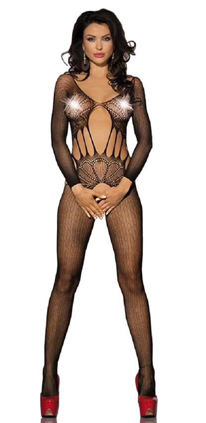 Bodystocking lingerie see through open crotch bodysuit open lingerie hot fence net bodystockings