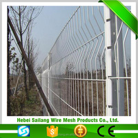 hot sale strong curved metal garden fence with peach post