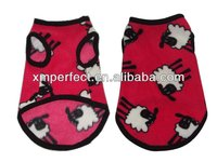 Pattern fleece dog coats